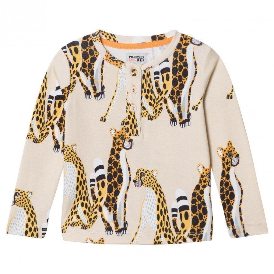 Filemon Kid Long Sleeve T-Shirt Cheetahs Angora Pitkähihainen T-Paita