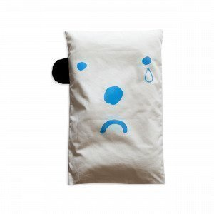 Fine Little Day Lasten Koristetyynynpäällinen Happy Sad Musta / Sininen