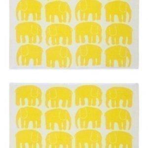 Finlayson Käsipyyhe Elefantti 50 x 70 cm 2kpl Keltainen Paketti