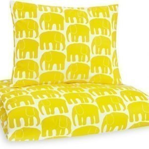 Finlayson Pussilakanasetti Elefantti 120x160 & 40x60 cm Keltainen