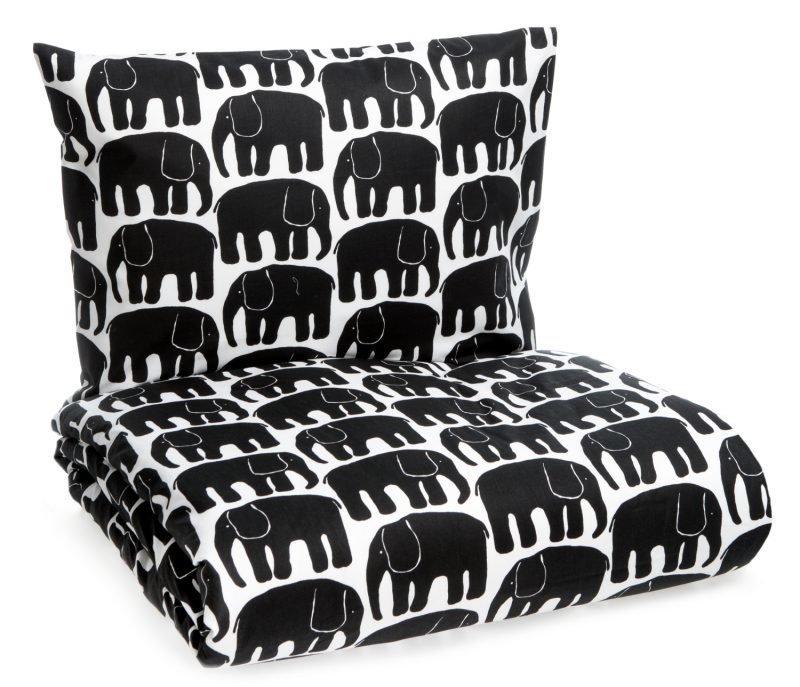 Finlayson Pussilakanasetti Elefantti 150 x 210 cm Musta