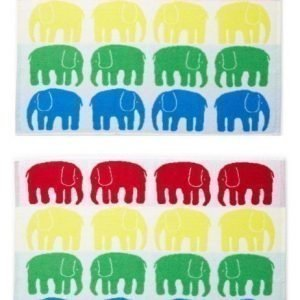 Finlayson Pyyhe Elefantti 50 x 70 cm 2kpl Monivärinen Paketti