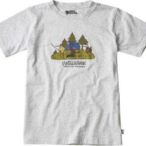 Fjällräven Kids Camping Foxes T-Shirt T-Paita Harmaa