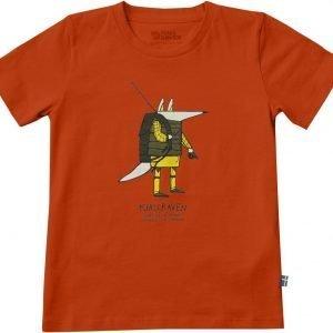 Fjällräven Kids Trekking Fox T-Shirt T-Paita Flame