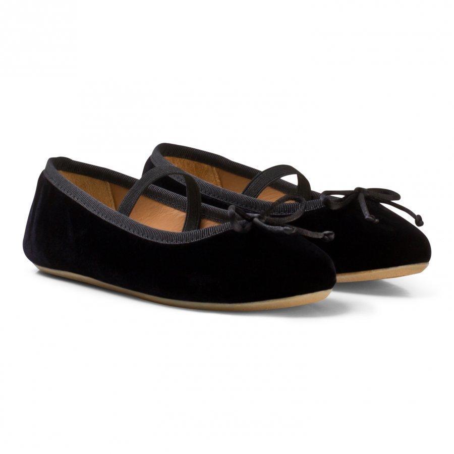 Flattered Ninette Black Velvet Sisätossut