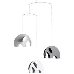 Flensted Mobiles Olephants Mobile Musta / Valkoinen