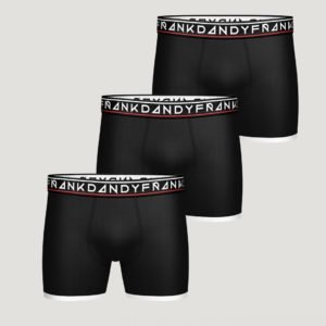 Frank Dandy 3 Pack Boy's St Paul Boxer Bokserit Musta