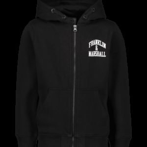 Franklin & Marshall Badge Logo Zip Hood Huppari
