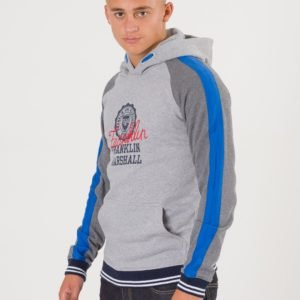 Franklin & Marshall Contrast Over The Head Hoody Huppari Harmaa