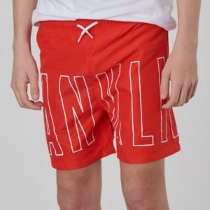 Franklin & Marshall Outline Logo Swim Uimashortsit Punainen