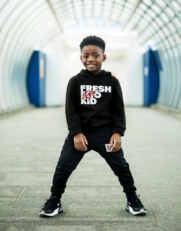 Fresh Ego Kid Fun Tracksuit Musta