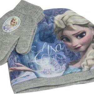 Frozen Pipo ja sormikkaat Setti Harmaa