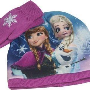 Frozen Pipo ja sormikkaat Setti Luumu