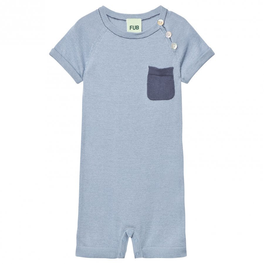 Fub Baby Body Dusty Blue Romper Puku