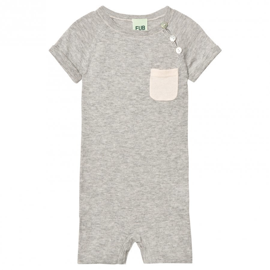 Fub Baby Body Light Grey Romper Puku