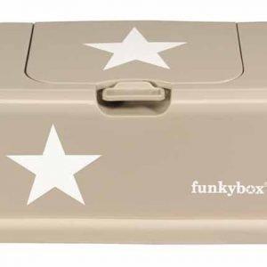 Funkybox Säilytysrasia puhdistuspyyhkeille Beige