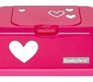 Funkybox Säilytysrasia puhdistuspyyhkeille Pinkki