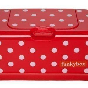 Funkybox Säilytysrasia puhdistuspyyhkeille Punainen