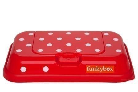 Funkybox Säilytysrasia puhdistuspyyhkeille To Go Punainen