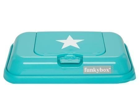 Funkybox Säilytysrasia puhdistuspyyhkeille To Go Turkoosi