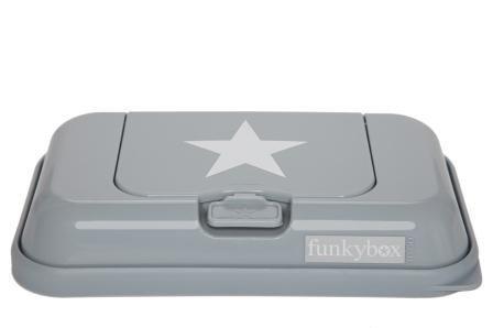 Funkybox Säilytysrasia puhdistuspyyhkeille To Go Vaaleanharmaa
