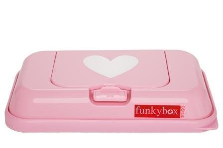 Funkybox Säilytysrasia puhdistuspyyhkeille To Go Vaaleanpunainen