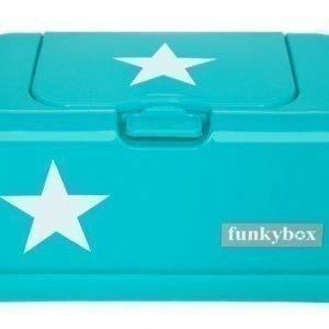 Funkybox Säilytysrasia puhdistuspyyhkeille Turkoosi