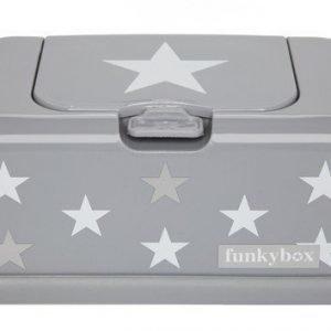 Funkybox Säilytysrasia puhdistuspyyhkeille Vaaleanharmaa