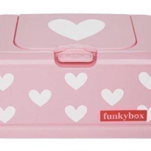 Funkybox Säilytysrasia puhdistuspyyhkeille Vaaleanpunainen