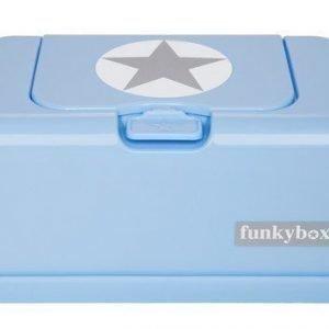 Funkybox Säilytysrasia puhdistuspyyhkeille Vaaleansininen/hopea