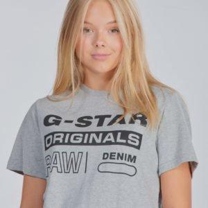 G-Star Ss Tee T-Paita Harmaa