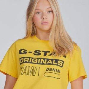 G-Star Ss Tee T-Paita Keltainen