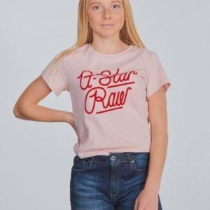 G-Star Ss Tee T-Paita Vaaleanpunainen