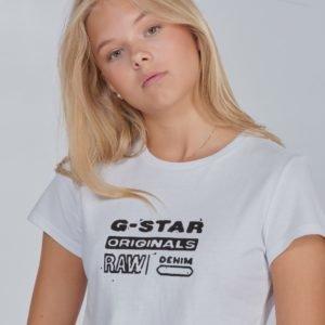 G-Star Ss Tee T-Paita Valkoinen