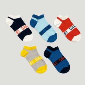 Gant 5 Pack Sneaker Socks Sukat Sininen