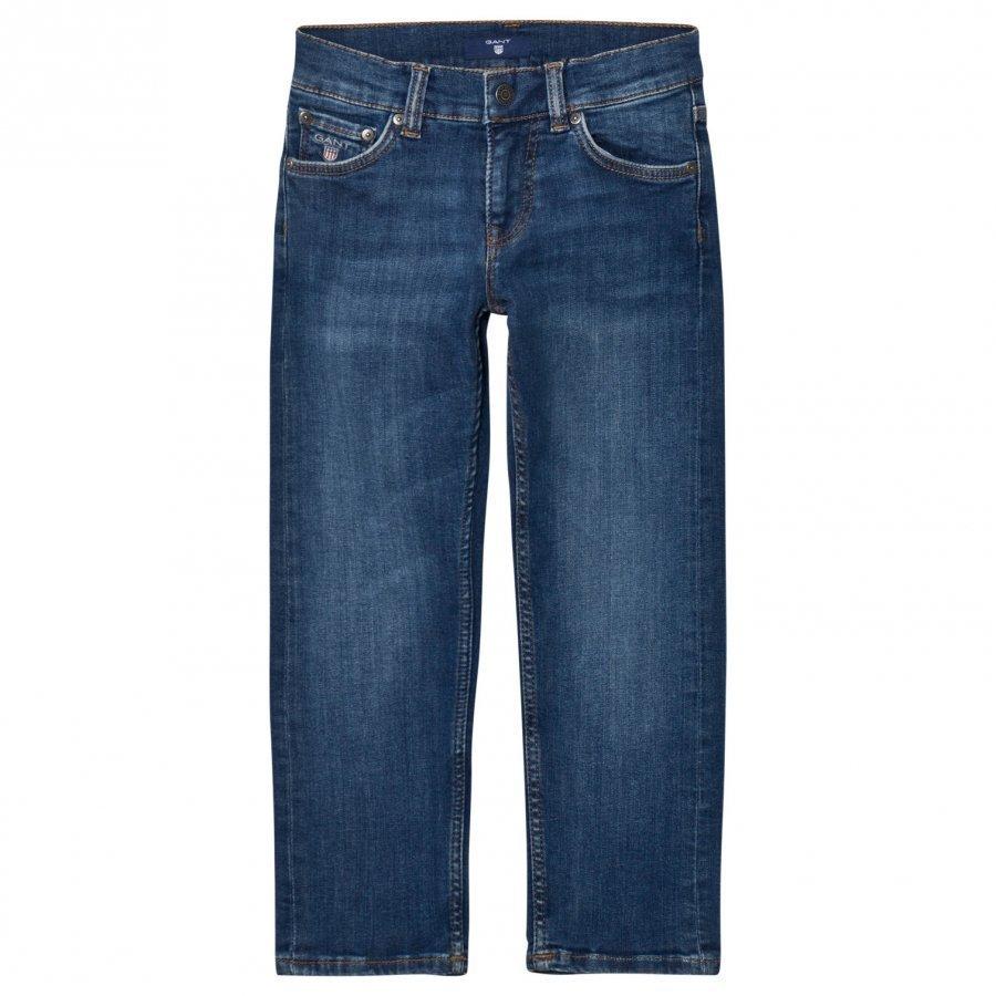 Gant Blue Mid Wash Slim Jeans Farkut