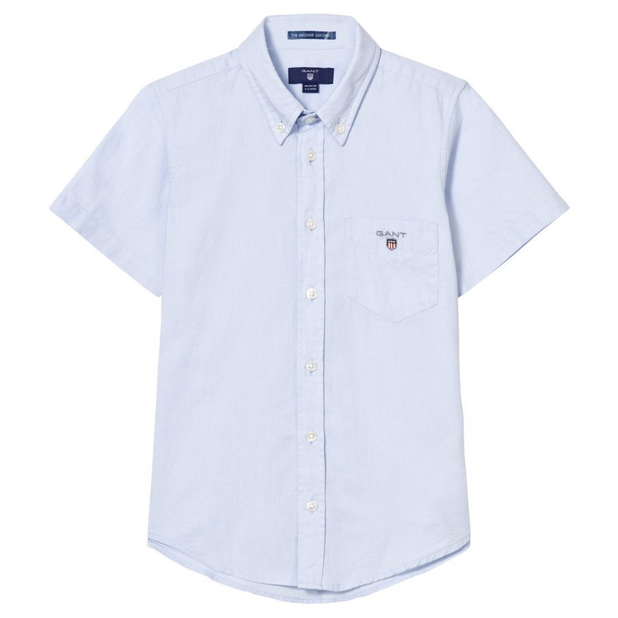 Gant Blue Oxford Short Sleeve Shirt Kauluspaita