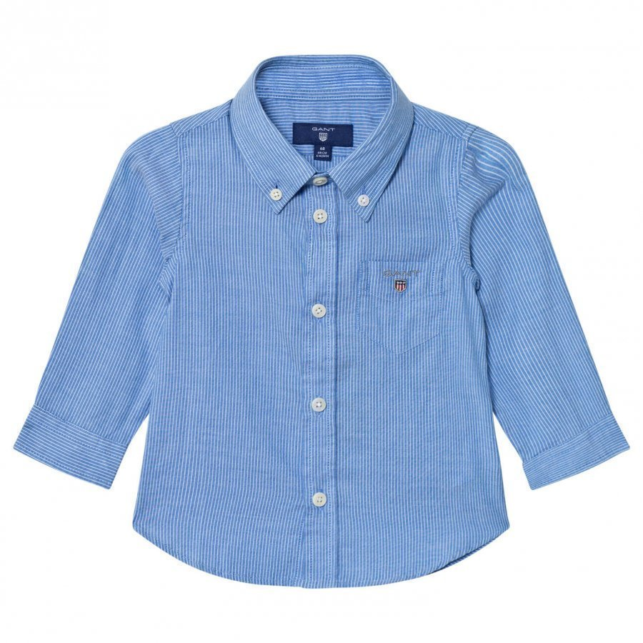 Gant Blue Oxford Stripe Shirt Kauluspaita