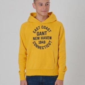 Gant Collegiate Gant Sweat Hoodie Huppari Keltainen