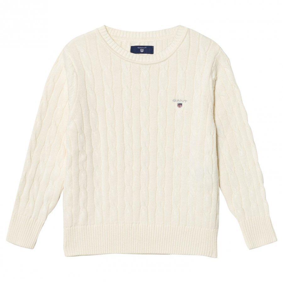 Gant Cream Cotton Cable Sweater Paita