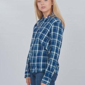 Gant D1. Flannel Indigo Check Shirt Kauluspaita Sininen