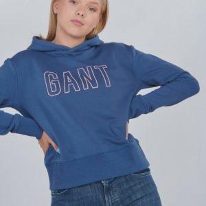 Gant D1. Gant Cropped Hoodie Huppari Sininen