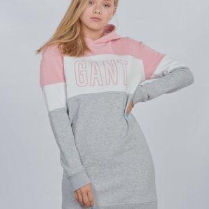 Gant D1. Gant Girls Block Hoodie Dress Mekko Vaaleanpunainen