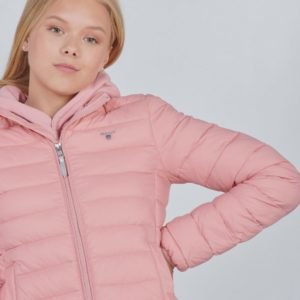 Gant D1. Light Weight Hooded Puffer Takki Vaaleanpunainen