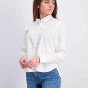 Gant D1. Poplin Shirt Kauluspaita Valkoinen