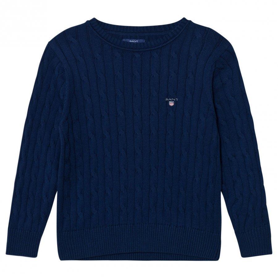 Gant Evening Blue Cable Crew Sweater Paita