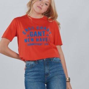 Gant Gant Collegiate Print Ss T Sh T-Paita Oranssi