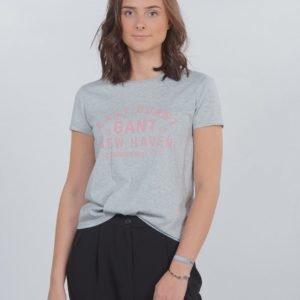 Gant Gant Collegiate Ss T Shirt T-Paita Harmaa