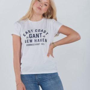Gant Gant Collegiate Ss T Shirt T-Paita Valkoinen