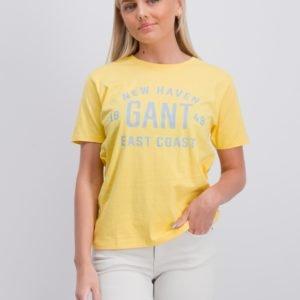 Gant Gant East Coast T Shirt T-Paita Keltainen